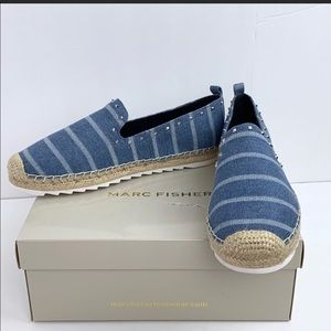 Marc Fisher The Chequer Espadrille SlipOn Size 8.5